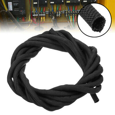3M 5mm Braided Sleeving - Nylon Braid Cable Wiring Harness Loom Protection Black