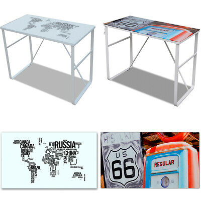Bureau rectangulaire avec motif Table de bureau Table d'ordinateur