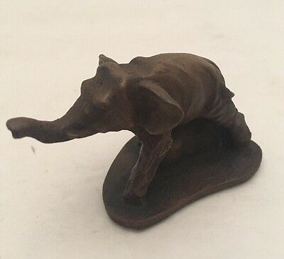 House Of Goebel England Bronze Miniature Elephant