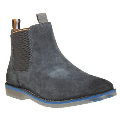 New Mens Superdry Grey Rallie Suede Boots Chelsea Elasticated Pull On