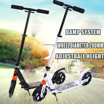 Folding Scooter Commuter 200mm Big Wheel Suspension Fashion Scooter Adult Child