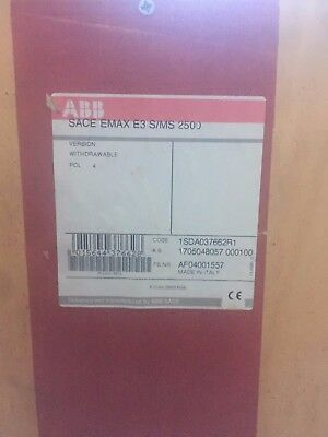ABB Air Circuit Breaker SACE NEW Emax E3 S/MS 2500