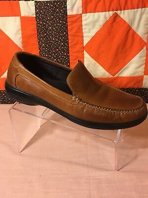 COLE HAAN Men's Light Brown Leather Driving Moccasins C11403 Loafers US 11.5 M