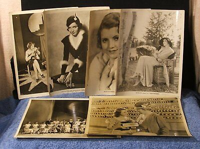Vintage Photo Lot Of Six - Irene Rich - Peggy Shannon & More