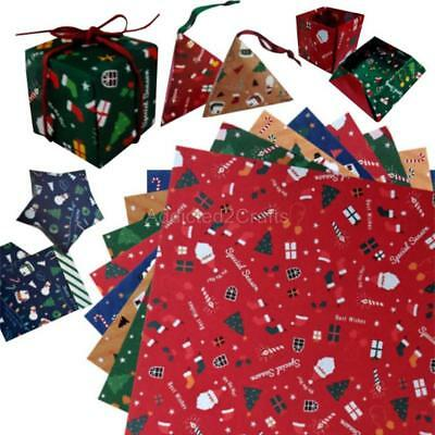60pcs Christmas Santa Snowman Double Sided Chiyogami JAPANESE ORIGAMI PAPER 15cm