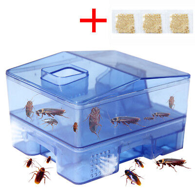 Pest Control Tool Cockroach Trap Container Collect Killer Catcher Home 3 Doors