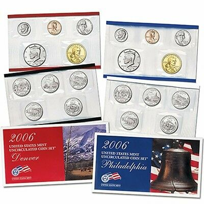 2006 US Mint Set Philadelphia & Denver Mint Set 20 Unc Coins U06