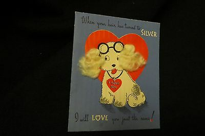 Vintage COCKER SPANIEL Valentine card c 1940s by: norcross UNSIGNED