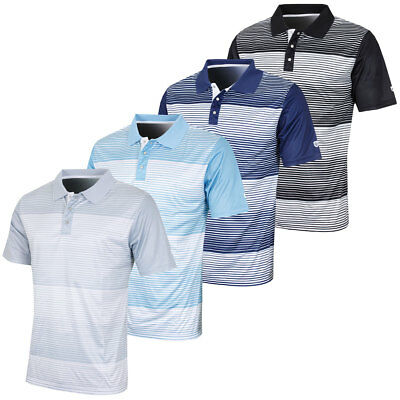 Island Green 2017 Mens Mini Stripe CoolPass Polo Shirt