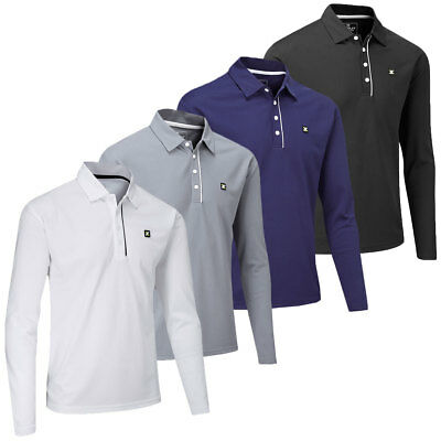Stuburt 2017 Mens Urban Long Sleeve Performance Tech Golf Polo Shirt