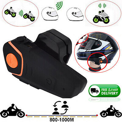 BT Interphone Motorcycle Bluetooth Intercom Stereo Headset Sport Helmet Speaker