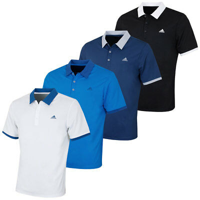 Adidas Golf Mens Pique Performance Lightweight Polo Shirt