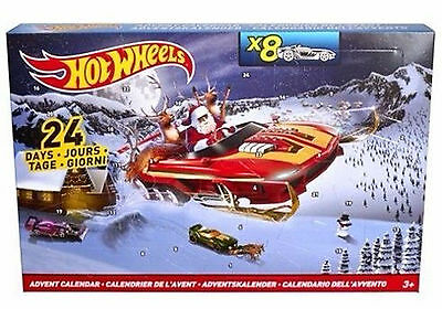 Hot Wheels Christmas Advent Calendar 8 Cars, 16 Accessories – Brand New & Sealed