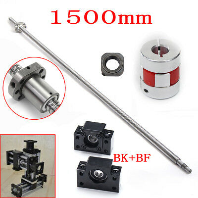 Antibacklash Ball Screw 1605-1500mm-C7 + BK/BF 12mm + 6.35x10mm Coupler Set Kit