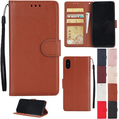 Magnetic Flip Leather Wallet Stand Card Slot Cover Case For Iphone X 8 7 6 Plus