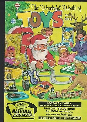 National Auto Stores The Wonderful World of Toys & Gifts Catalog 1970 Christmas