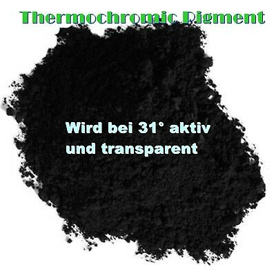 Schwarz Thermoaktiv Pigment Thermopigment Thermo Thermochromic Lack Dip