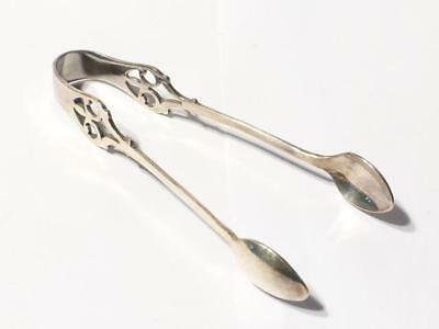 Antique 1932 Solid Silver Decorative Pair Sugar Tongs Maker ISG #S23