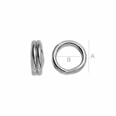Sterling Silver 925 double Split jump Rings many sizes multibuy - FREE delivery