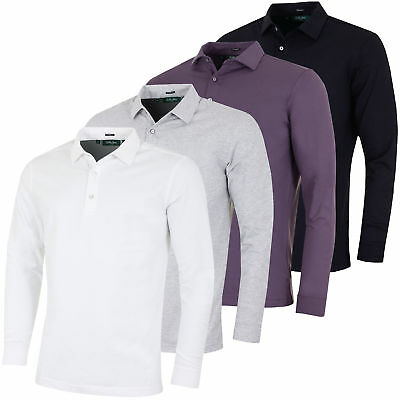 Bobby Jones Mens TF Liquid Cotton Long Sleeve Solid Polo Shirt 65% OFF RRP