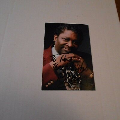 B.B. King, was an American blues singer, electric guitarist Hand Signed Postcard
