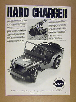 1973 Cox US Army Military Command Jeep model photo vintage print Ad