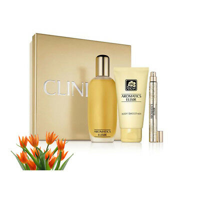 Clinique Aromatics Elixir 3PC 100ml Perfume Essential or Riches G/Set Box UPick