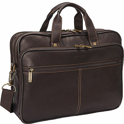 b34be5484e0f Heritage Colombian Leather Double Gusset 15.4-inch Laptop Briefcase Brown  827361