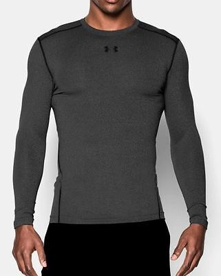 Under Armour ColdGear Armour Compression Crew Men's Long Sleeve Shirt Gray Small