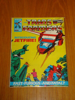 Transformers British Weekly #38 Marvel Uk Comic 1985