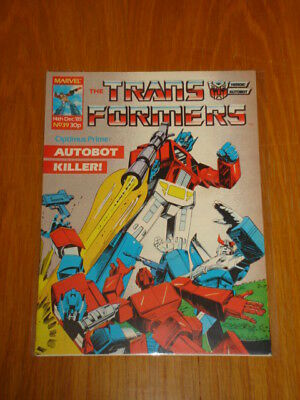 Transformers British Weekly #39 Marvel Uk Comic 1985