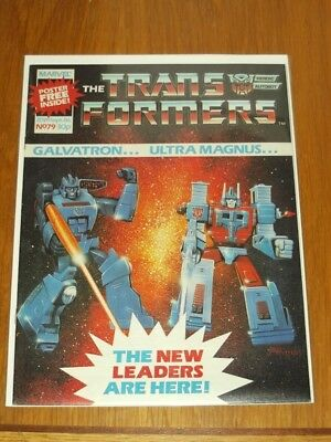 Transformers British Weekly #79 20Th September 1986 Marvel Uk Comic With Gift