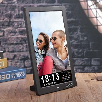 """12"""" HD LCD Digital Photo Picture Frame Clock MP4 Player + Remote Control B7T6"""