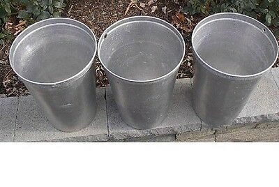 Vintage Lot of 3 Maple Syrup OLD Tin Sap Buckets GREAT
