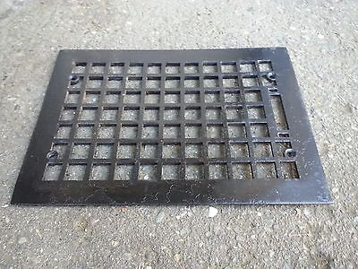 "Vintage VICTORIAN Cast Iron Floor Grille Heat Grate Register 13"" long x 10"" wide"