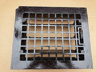 Vintage VICTORIAN Cast Iron Floor Grille 11+x10 Heat Grate Register + Louvers