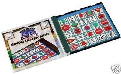 Lot of 5 Bingo Traffic Signs Magnetic Travel Game Road Compact Mini Portable