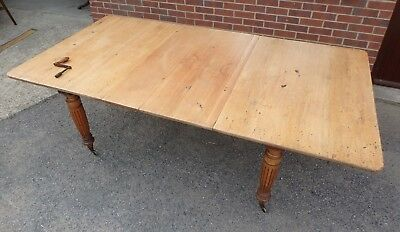 Victorian antique military oak pine campaign extending dining table seats 12