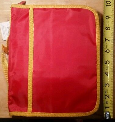 "Zippered Book covers - Red with yellow trim - Brand new with tags - 9.5"" x 8"""