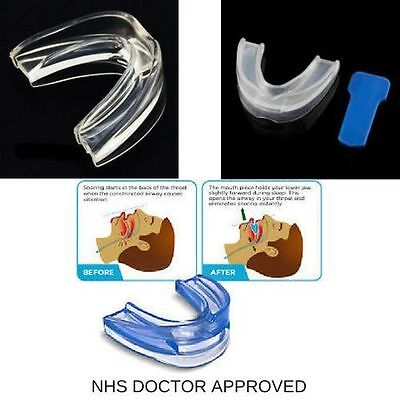 Nhs Anti Snore Snoring Mouth Guard Device Sleep Aid Stop Apnoea Stop Snoring