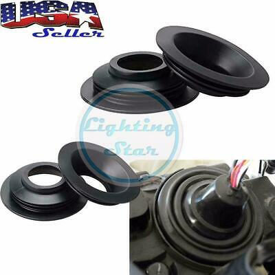 2x Universal Housing Dust Seal Rubber Caps For HID LED Headlight Retrofit Kit