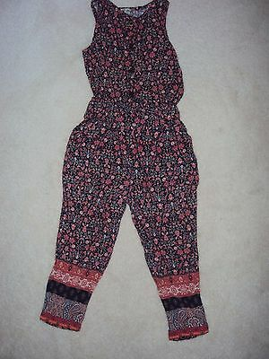 Girls Rust Colour Patterned Sleeveless Jumpsuit Size 4 years from Next