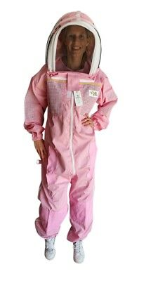 "Beekeeping Suit ""oz Armour"" Poly Cotton Semi Ventilated Bee Suit Pink Colour"