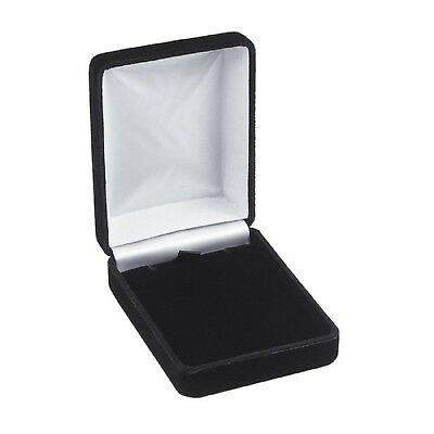 4 Necklace Pendant Gift Boxes Jewelry Displays Black