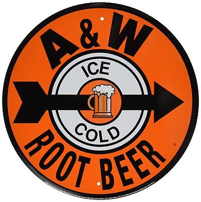 A & W Root Beer Reproduction Ad Tin Sign (12x12) Unframed