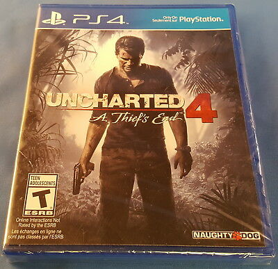NEW Uncharted 4: A Thief's End PS4 Game