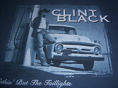 CLINT BLACK--1998 NORTH AMERICAN TOUR t shirt--NOTHIN' BUT THE TAILLIGHTS--(M)