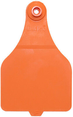 Fade-Resistant Color Fearing Duflex Large Blank Tags 25 Count Orange Bright