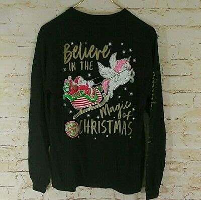 "NWOT Simply Southern ""Believe In The Magic of Christmas"" Women's Sz. Small Tee"