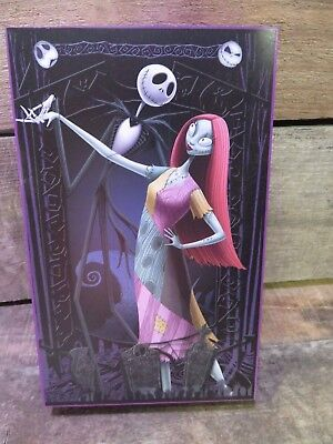 "JACK SALLY Wooden Table Top Decor Hanging 8""x5"" Nightmare Before Christmas NEW"